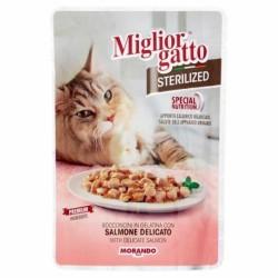 Miglior Gatto - Miglior Gatto Pouch Sterilised Somonlu Kedi Yaş Maması 85 Gr