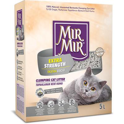 Mırmır Extra Strength Aktif Karbon Ekstra Güçlü Topaklanan Kedi Kumu 5 Lt