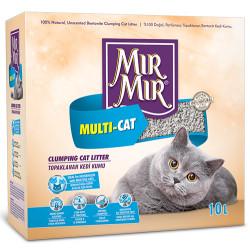 Mırmır - Mırmır Multi-Cat Birden Fazla Kedi İçin Topaklanan Kedi Kumu 10 Lt