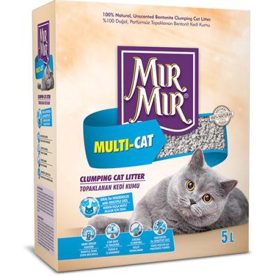 Mırmır Multi-Cat Birden Fazla Kedi İçin Topaklanan Kedi Kumu 5 Lt