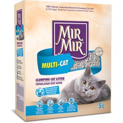 Mırmır - Mırmır Multi-Cat Birden Fazla Kedi İçin Topaklanan Kedi Kumu 5 Lt