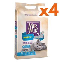 Mırmır - Mırmır Poşet Multi-Cat Birden Fazla Kedi İçin Topaklanan Kedi Kumu 5 Lt x 4 Adet