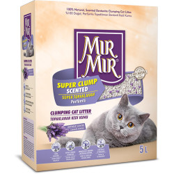 Mırmır - Mırmır Super Clump Scented Lavantalı Süper Topaklanan Kedi Kumu 5 Lt