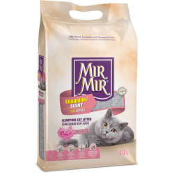 Mırmır - Mırmır Topaklanan Bebek Pudralı Tozsuz Kedi Kumu 10 Lt