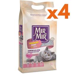 Mırmır - Mırmır Topaklanan Bebek Pudralı Tozsuz Kedi Kumu 5 Lt-(4 Adet)