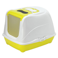 Moderna - Moderna C230 Flip Cat Large Kapalı Kedi Tuvaleti 50 Cm (Sarı)