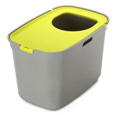 Moderna Top Cat Üstten Girişli Kapalı Kedi Tuvaleti 59 Cm (Gri/Sarı)
