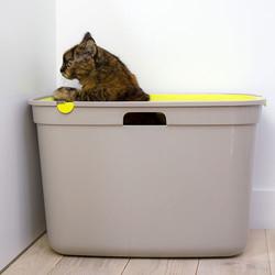 Moderna Top Cat Üstten Girişli Kapalı Kedi Tuvaleti 59 Cm ( Sarı ) - Thumbnail