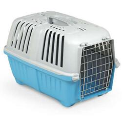MPS - MPS Pratiko No: 1 Metal Kapılı Kedi ve Küçük Irk Köpek Taşıma Çantası Mavi