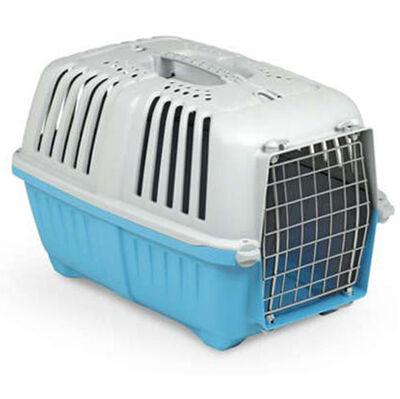MPS Pratiko No: 1 Metal Kapılı Kedi ve Küçük Irk Köpek Taşıma Çantası Mavi