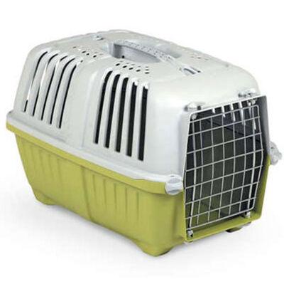 MPS Pratiko No: 1 Metal Kapılı Kedi ve Küçük Irk Köpek Taşıma Çantası Yeşil