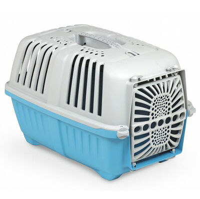 MPS Pratiko No: 1 Plastik Kapılı Kedi ve Küçük Irk Köpek Taşıma Çantası Mavi