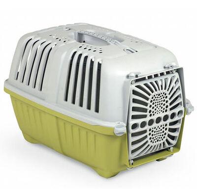 MPS Pratiko No: 1 Plastik Kapılı Kedi ve Küçük Irk Köpek Taşıma Çantası Yeşil