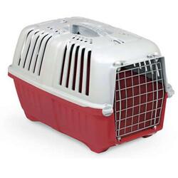 MPS - MPS Pratiko No: 2 Metal Kapılı Kedi ve Küçük Irk Köpek Taşıma Çantası Kırmızı