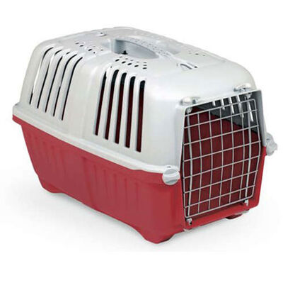 MPS Pratiko No: 2 Metal Kapılı Kedi ve Küçük Irk Köpek Taşıma Çantası Kırmızı