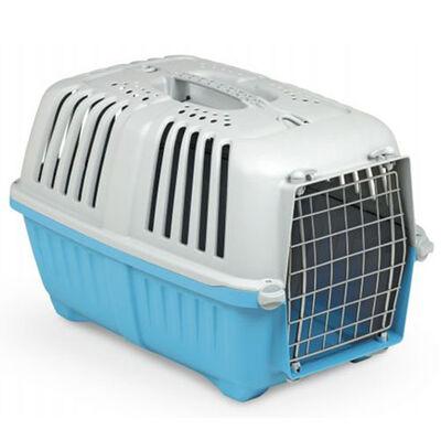 MPS Pratiko No: 2 Metal Kapılı Kedi ve Küçük Irk Köpek Taşıma Çantası Mavi