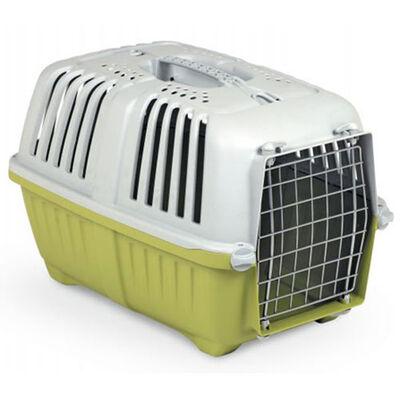 MPS Pratiko No: 2 Metal Kapılı Kedi ve Küçük Irk Köpek Taşıma Çantası Yeşil