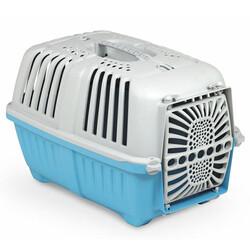 MPS - MPS Pratiko No:1 Plastik Kapılı Kedi ve Küçük Irk Köpek Taşıma Çantası Mavi