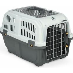 MPS - MPS Skudo No: 2 IATA Üstü Metal Açılır Kedi ve Köpek Taşıma Çantası Gri (Max: 18 Kg)