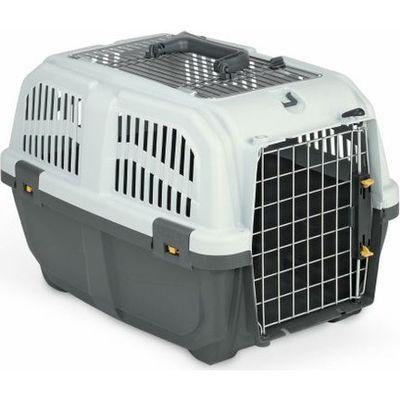 MPS Skudo No: 2 IATA Üstü Metal Açılır Kedi ve Köpek Taşıma Çantası Gri (Max: 18 Kg)
