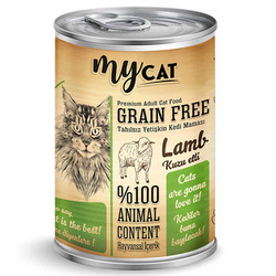 My Cat - My Cat Kuzu Etli Tahılsız Kedi Konservesi 415 Gr