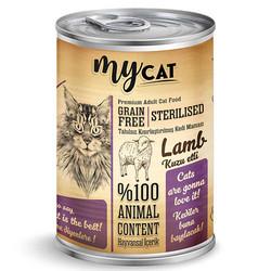 My Cat - My Cat Sterilised Kuzu Etli Kısırlaştırılmış Tahılsız Kedi Konservesi 415 Gr