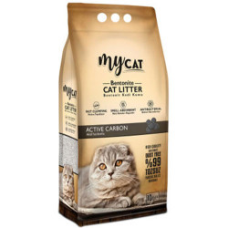 My Cat - Mycat İnce Taneli Aktif Karbon Topaklanan Doğal Kedi Kumu 10 Lt