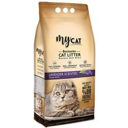 My Cat - Mycat İnce Taneli Lavanta Topaklanan Doğal Kedi Kumu 10 Lt