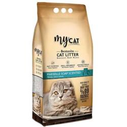 My Cat - Mycat İnce Taneli Marsilya Topaklanan Doğal Kedi Kumu 10 Lt