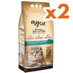 My Cat - Mycat İnce Taneli Marsilya Topaklanan Doğal Kedi Kumu 10 Ltx2 Adet
