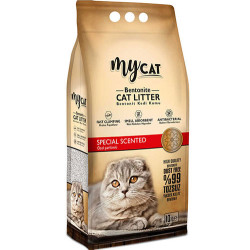 My Cat - Mycat İnce Taneli Özel Parfümlü Topaklanan Doğal Kedi Kumu 10 Lt