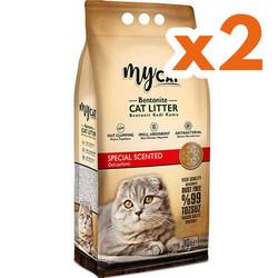 My Cat - Mycat İnce Taneli Özel Parfümlü Topaklanan Doğal Kedi Kumu 10 Ltx2 Adet