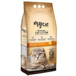 My Cat - Mycat İnce Taneli Portakal Topaklanan Doğal Kedi Kumu 10 Lt