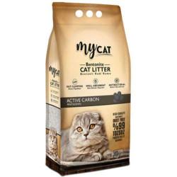 My Cat - Mycat Kalın Taneli Aktif Karbon Topaklanan Doğal Kedi Kumu 10 Lt