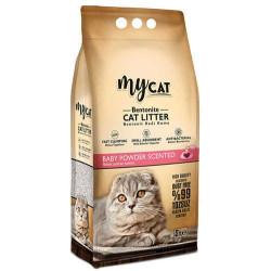 My Cat - Mycat Kalın Taneli Bebek Pudralı Topaklanan Doğal Kedi Kumu 5 Lt