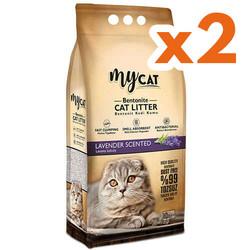My Cat - Mycat Kalın Taneli Lavanta Topaklanan Doğal Kedi Kumu 10 Ltx2 Adet