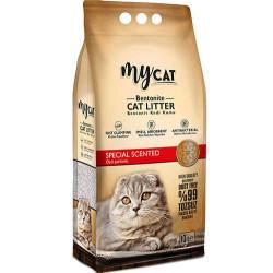 My Cat - Mycat Kalın Taneli Özel Parfümlü Topaklanan Doğal Kedi Kumu 10 Lt