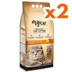 My Cat - Mycat Kalın Taneli Portakal Topaklanan Doğal Kedi Kumu 10 Ltx2 Adet