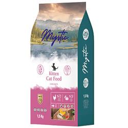 Mystic - Mystic Kitten Düşük Tahıllı Tavuk Etli Yavru Kedi Maması 1,5 Kg
