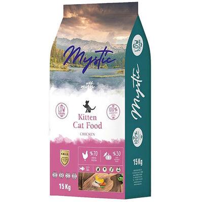 Mystic Kitten Düşük Tahıllı Tavuk Etli Yavru Kedi Maması 15 Kg