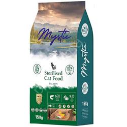 Mystic - Mystic Sterilised Düşük Tahıllı Somonlu Kısırlaştırılmış Kedi Maması 15 Kg