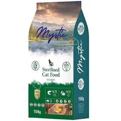 Mystic Sterilised Düşük Tahıllı Somonlu Kısırlaştırılmış Kedi Maması 15 Kg
