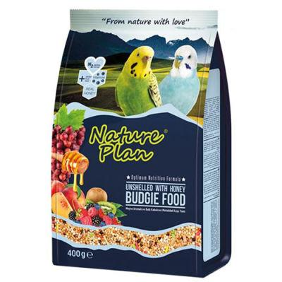 Nature Plan 3005 Meyve Aromalı Ballı Kabuksuz Muhabbet Kuşu Yemi 400 Gr