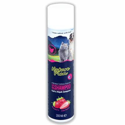 Nature Plan 3300 Çilek Kokulu Kedi ve Köpek Şampuanı 300 ML