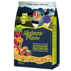 Nature Plan - Nature Plan Meyve Aromalı Ballı Egzotik Finch Yemi 500 Gr