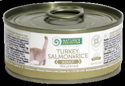 Natures Protection - Natures Protection Tahılsız Kısırlaştırılmış Somon Kedi Konservesi 100 Gr