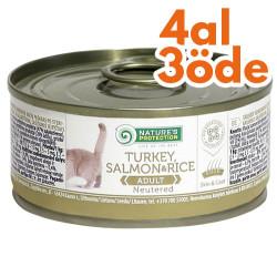Natures Protection - Natures Protection Tahılsız Kısırlaştırılmış Somon Kedi Konservesi 100 Gr-4 Al 3 Öde