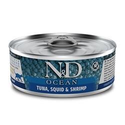 ND 2024 Ocean Ton Balığı, Mürekkep Balığı ve Karides Kedi Konservesi 80 Gr - 6 Al 5 Öde - Thumbnail