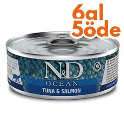 N&D (Naturel&Delicious) - ND 2031 Ocean Ton Balığı ve Somonlu Kedi Konservesi 80 Gr - 6 Al 5 Öde