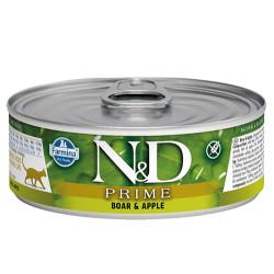 N&D (Naturel&Delicious) - ND 2048 Prime Yaban Domuzu ve Elmalı Kedi Konservesi 80 Gr